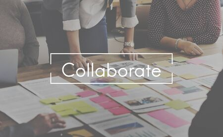 collaborate: Collaborate Group Team Partnership Concept