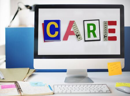 take  care: Care Assurance Protection Help Charity Security Concept