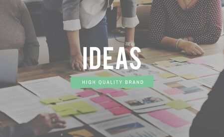 proposition: Ideas Thoughts Design Action Plan Concept Stock Photo