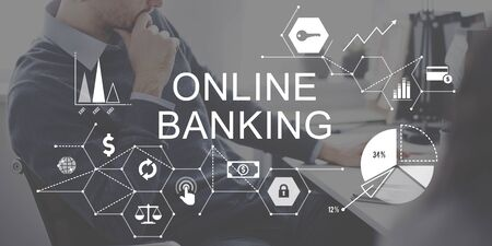 e banking: Online Banking Business Commercial Computing Concept