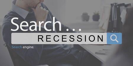 recession: Recession Financial Depression Crisis Business Concept