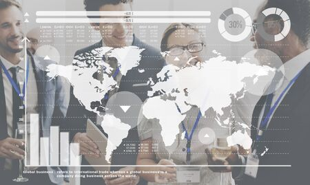 Global Business Connect Vision Solution Travail d'équipe Succès Concept