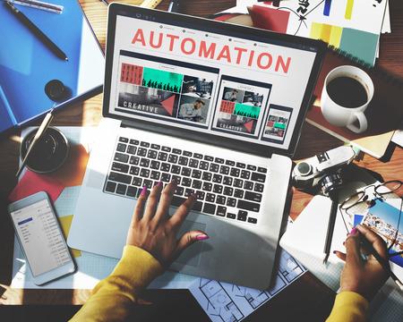 Automation Moderne Technologie Maschinenkonzept Lizenzfreie Bilder