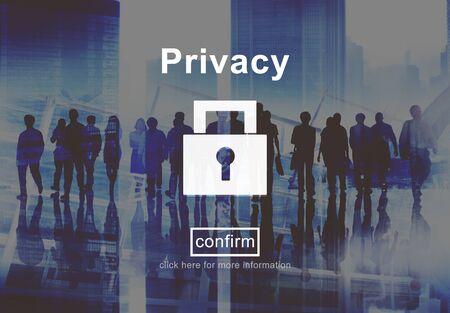 privacidad: Protección Concepto Secreto política de privacidad Seguridad Privada
