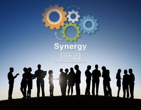 sinergia: Synergy Teamwork Better Together Collaboration Concept