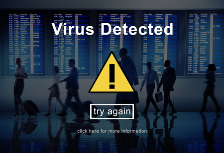 spyware: Virus Detected Protection Security Spyware Malware Concept