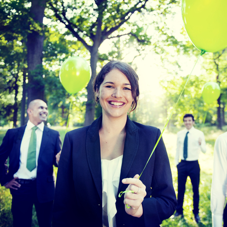 forest conservation: Business People Green Business Environmental Conservation Concept Stock Photo