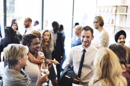 corporate meeting: Diversity Group of People Meet up Party Concept Stock Photo