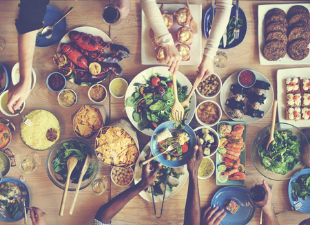 Brunch Choice Foule Dining Options de restauration Manger Concept