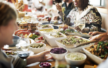 food buffet: Food Buffet Catering Dining Eating Party Sharing Concept Stock Photo