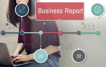 article: Business Report Resulting Information Article Concept