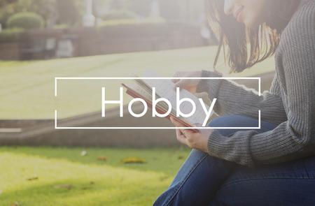 amusment: Hobby Fun Happiness Leisure Activity Pursuit Concept Stock Photo