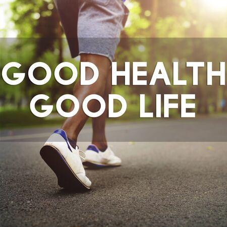 good health: Good Health Good Life Lifestyle Nutrition Exercise Concept