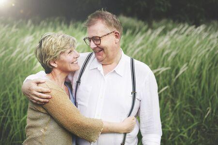 older couple: Bonding Couple Leisure Love Romance Relaxation Concept