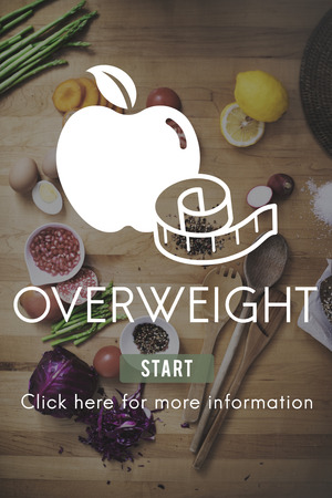 unhealthy eating: Overweight Diet Eating Disorder Unhealthy Diabetes Fat Concept