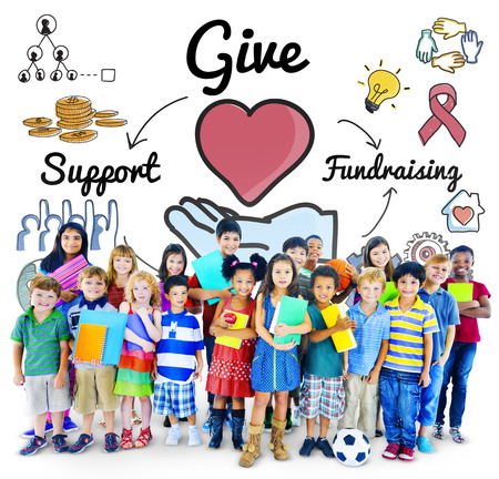 fundraising: Give Support Fundraising Help Charity Concept