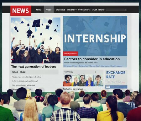 temporary: Internship Skills Temporary Management Trainee Concept Stock Photo