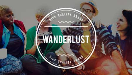 mochila de viaje: Wanderlust Travel Mochila concepto de la aventura del viaje