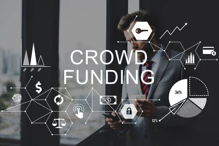 supporters: Crowd Funding Supporters Investment Fundraising Contribution Concept