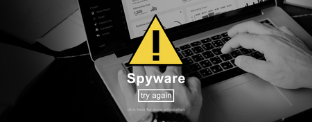 spyware: Spyware Virus Firewall Network Security System Concept