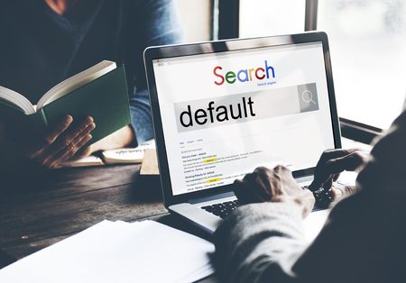 Online search for default on a laptop