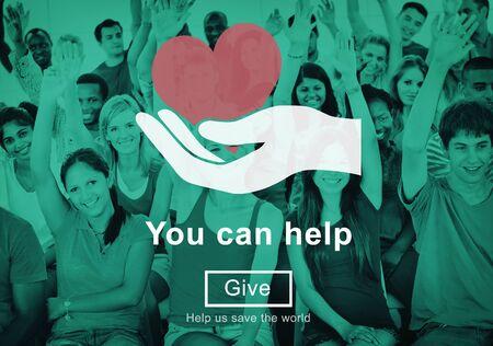 tu puedes: Usted puede ayudar a dar donar el concepto de Bienestar