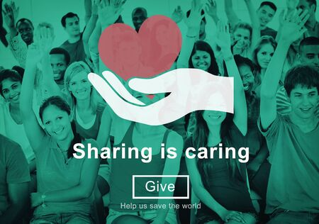 Sharing is Caring Money Donation Give Concept