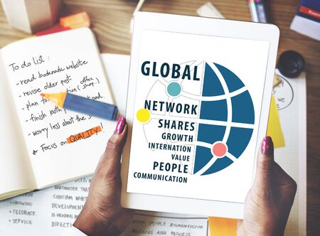 global networking: Global Networking Worldwide international Concept