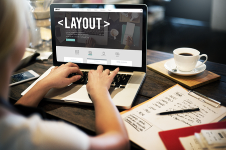 out of job: Layout Editing Page Responsive Design Concept