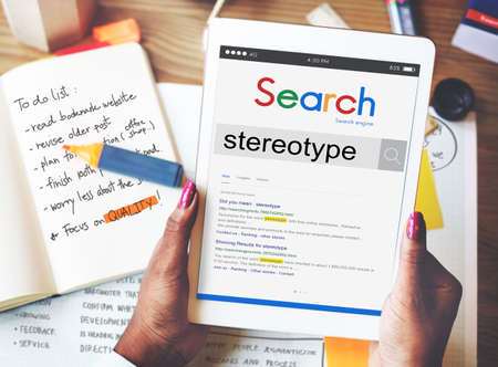 stereotype: Stereotype Belief Bias Prejudice Discrimination Perception Concept Stock Photo