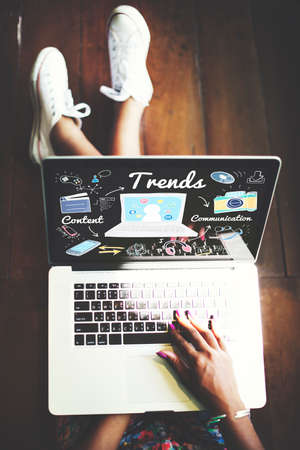 place of work: Trends Trend Trending Trendy Fashion Style Design Concept Stock Photo