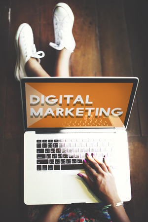 Digital Marketing Commercial Advertisement Social Concept Stock Photo