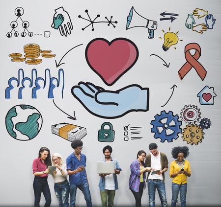personas ayudando: Hablar Lluvia Comunicación Amigos Concepto