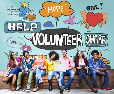 voluntary: Volunteer Voluntary Volunteering Assist Charity Concept