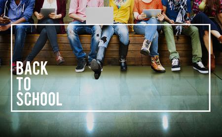 Zurück zu Schulbildung Knowledge College University Konzept Standard-Bild