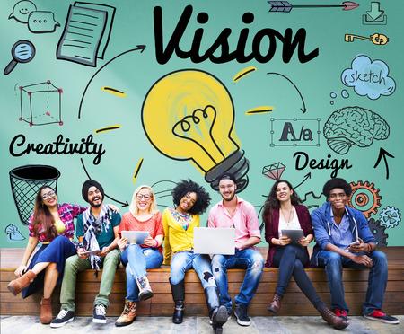 ビジョン創造的なアイデアのデザイン コンセプト 写真素材 - 54179501