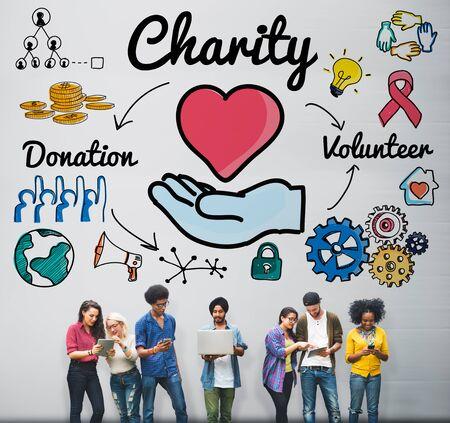generosity: Charity Donate Welfare Generosity Charitable Giving Concept