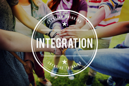 to incorporate: Integration Diversity People Unity Immigrants Concept