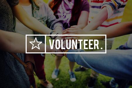 spirit: Volunteer Voluntary Volunteering Aid Assisstant Concept Stock Photo