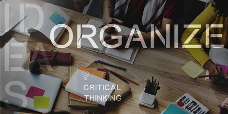 to arrange: Organize Management Arrange Plan Manage Concept
