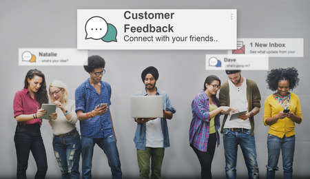 opinion: Customer Feedback Opinion Reply Report Concept