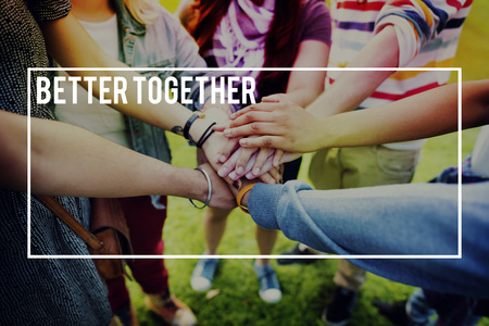 better: Better Together Community Support Teamwork Concept Stock Photo