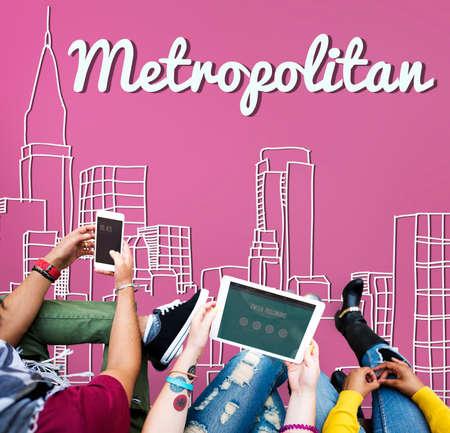 metropolitan: Metropolitan City Urban Democracy Advanced Concept Stock Photo