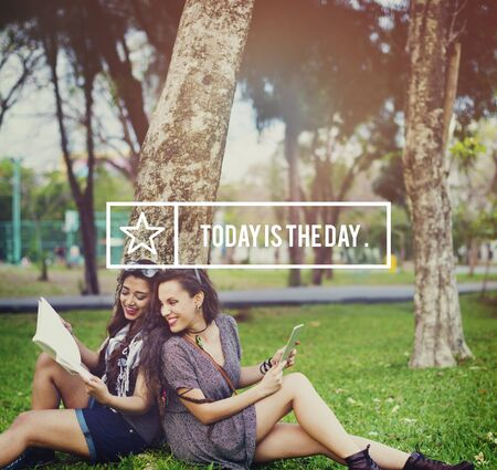 Today Is The Day Inspiration Positive Motivation Concept Imagens