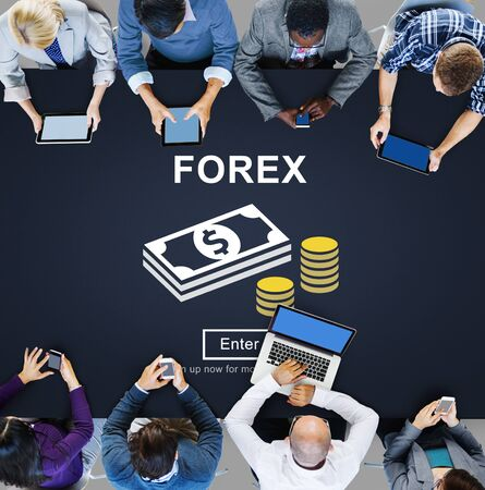banking concept: FOREX Banking Stock Market Finance Online Website Concept Stock Photo
