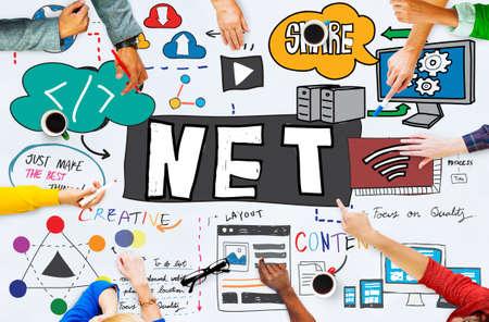 worth: Net Worth Internet Network Computer Connection Concept