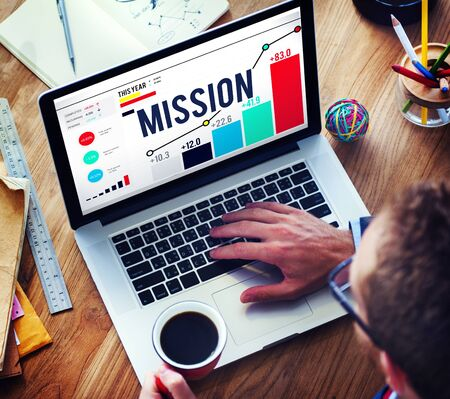 analysis: Mission Goal Inspiration Strategy Target Concept Stock Photo