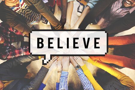 belief: Believe Faith Religion Worship Mindset Belief Concept Stock Photo