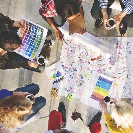 casual meeting: Design Team Meeting Brainstorming Creative Concept