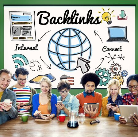 backlinks: Backlinks Technology Online Web Concept Stock Photo